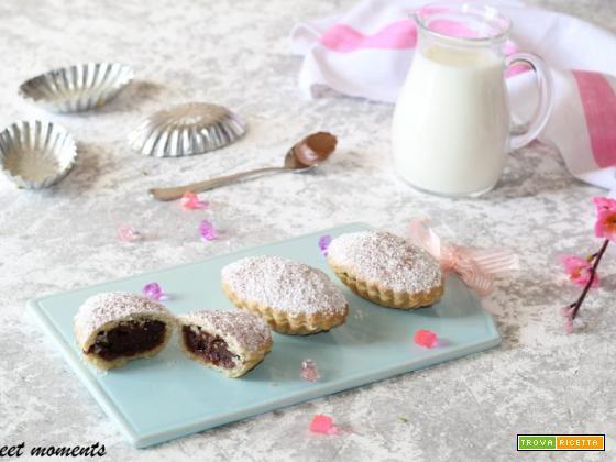 Pasticciotti al cioccolato e nutella