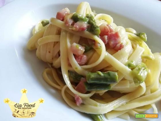Tagliatelle alla Carbonara con asparagi