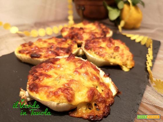 Finocchi gratinati con curcuma e limone la ricetta