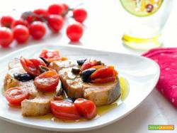 Pesce spada pomodorini capperi olive