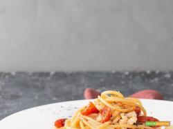 Spaghetti al ragù di cernia bianca con pomodori confit