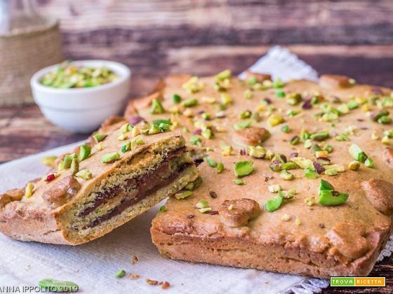 Crostata pistacchio e crema di nocciole e cacao