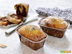 Mini plumcake bicolore alla panna e cacao