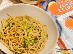 Spaghetti integrali aglio,olio,zenzero e curcuma