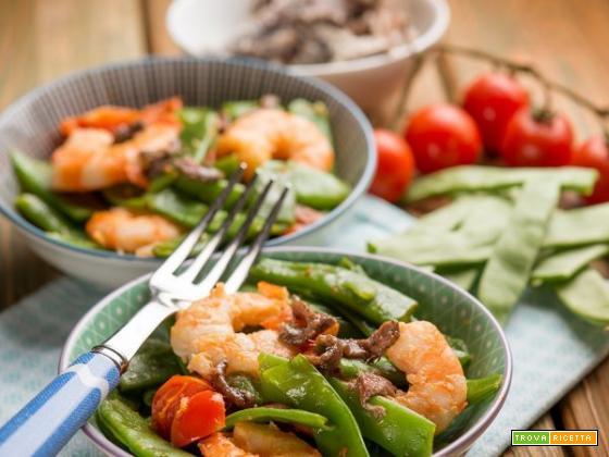 Taccole con i gamberi per un secondo piatto delicato ed inedito