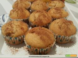Muffin alle mele e profumo di cannella