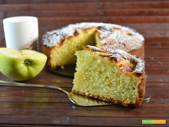 Torta soffice al limone e mele