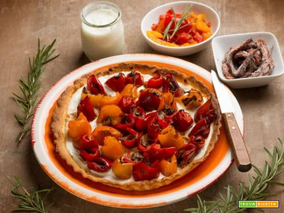 Torta salata con rotolini di peperone per la tua cena!