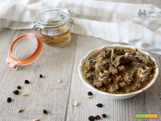Condimento con sarde e finocchietto selvatico ricetta tipica siciliana