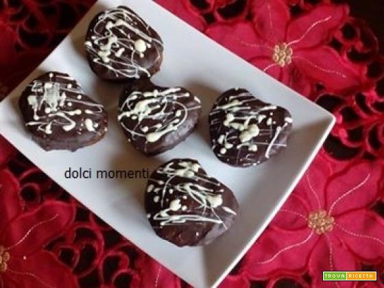 Tortini al cacao glassati al cioccolato