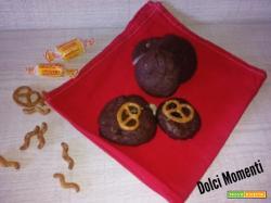 Cookies al cioccolato,caramello salato e pretzel