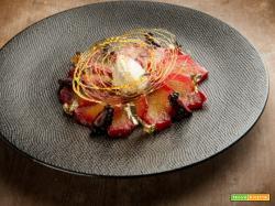 L' ananas all'anice stellato cotto con purea di lamponi, il dolce per palati sopraffini