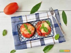 Torrette di melanzane alla parmigiana