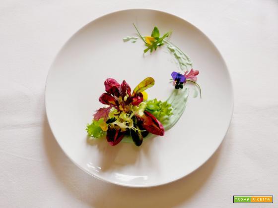 Insalatina con Maionese vegan alla Spirulina