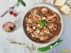 Pizza gourmet  Formaggi e noci con coppetta di panna cotta al formaggio