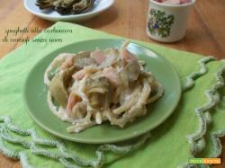 Spaghetti alla carbonara di carciofi senza uova