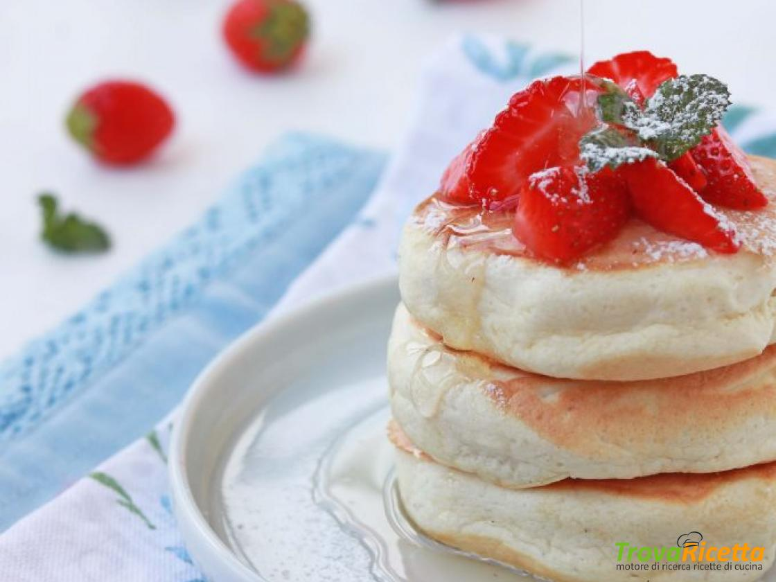 Ricetta Japanese Pancakes.Fluffy Japanese Pancakes Light E Senza Lattosio Ricetta Trovaricetta Com