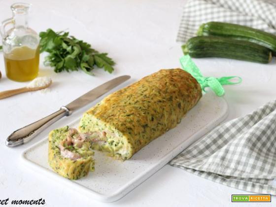 Rotolo di zucchine con prosciutto e sottilette