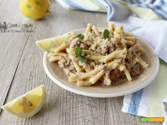Pasta al ragù semplice bianco con limone