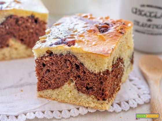 Torta marmorizzata cioccolato e vaniglia