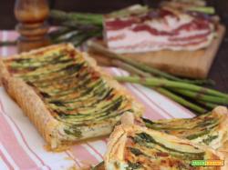 Crostata con Asparagi, Robiola e Bacon