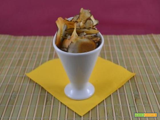 Chips piccanti di topinambur fritte o al forno