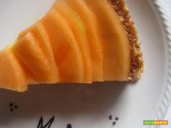 Crostata vegan al melone e crema al Porto