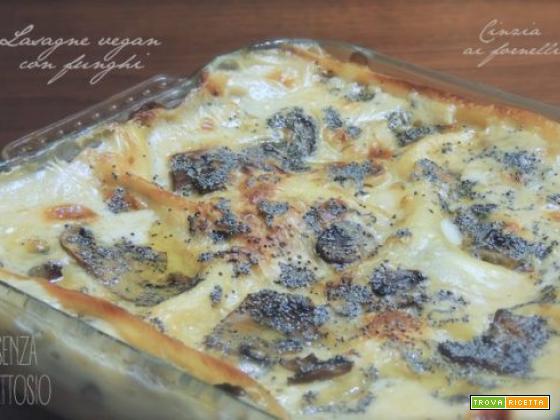 Lasagne al sugo ai funghi vegan