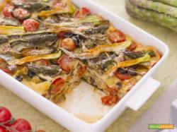 Lasagne arcobaleno con verdure vegan