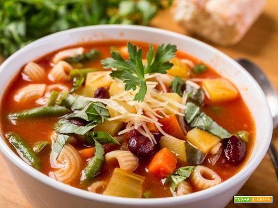 Minestrone di verdure e zuppa di verdura invernale