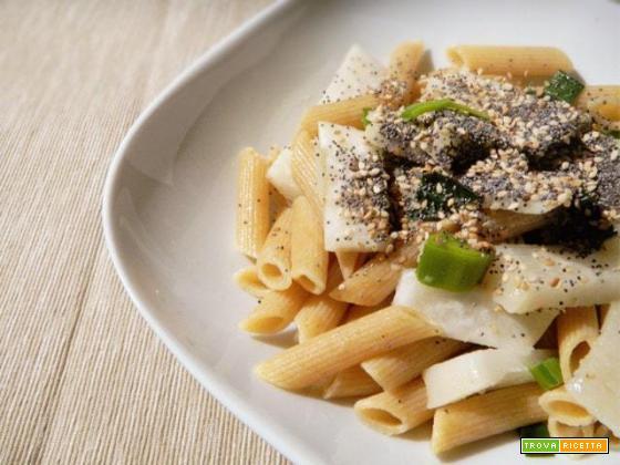 Pasta alla rapa bianca con funghi glassati e abbinamento vino