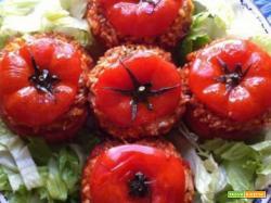 Pomodori ripieni di Riso con mozzarella vegan