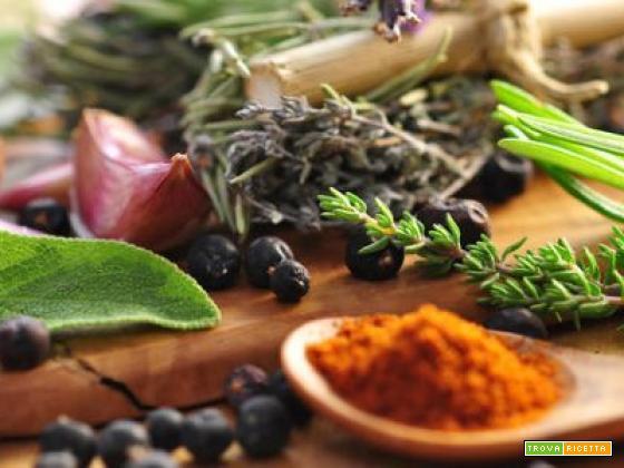 Spezie ed erbe aromatiche le loro proprietà e come usarle in cucina