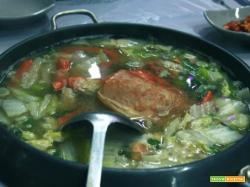 Zuppa di verdure all'agliata