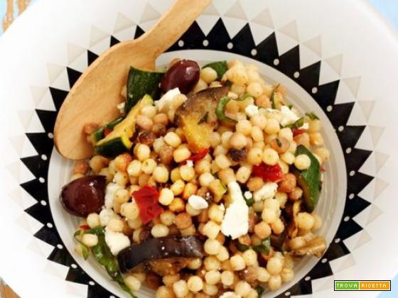 Fregola in insalata con verdure grigliate