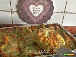 Lasagne di pasta fresca con zucchine e mozzarella