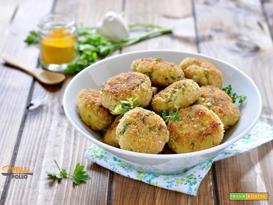 Polpette di pollo con zucchine e curry