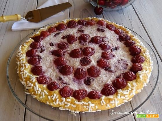 Torta crostata ricotta e ciliege