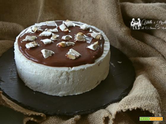 Semifreddo al torrone e salsa di cioccolato