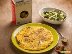 Dal Giappone: omelette agli shiitake con alghe wakame