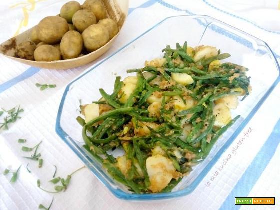 Fagiolini e patate gratinati al forno