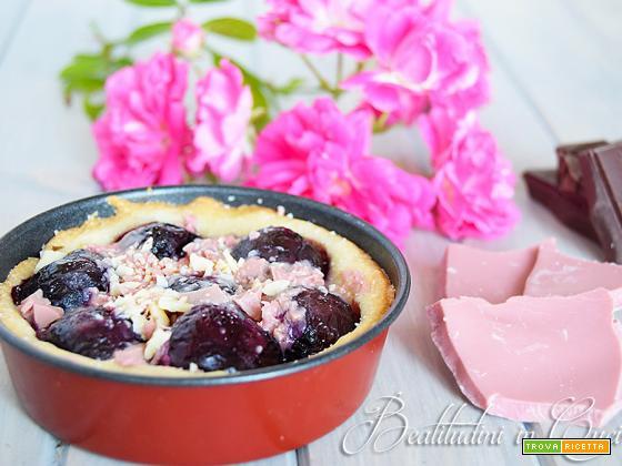 Crostatine alle ciliegie e ruby chocolate