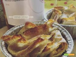 Tortini di pane carasau con zucchine e alici