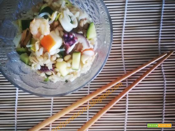 Insalata 3 cereali al sapore d'oriente
