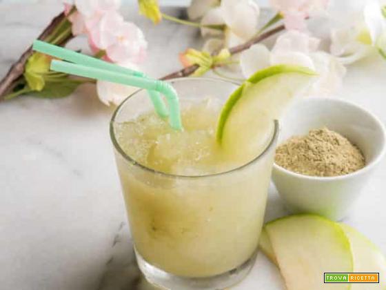 Un drink per l'estate: granita al tè matcha e mela verde
