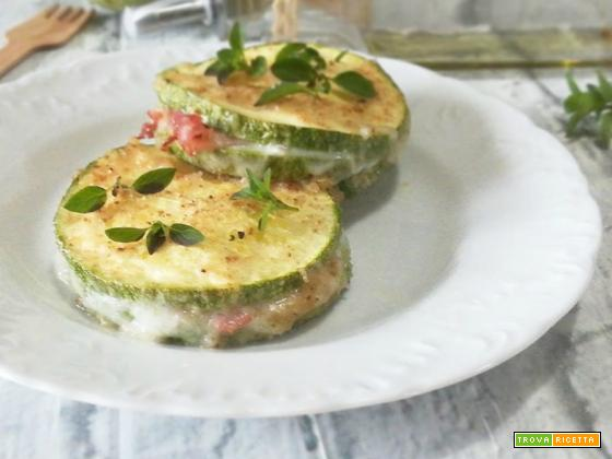 Fagottini di zucchine al forno