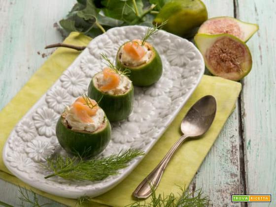 Per l'estate: fichi ripieni di formaggio cremoso e salmone