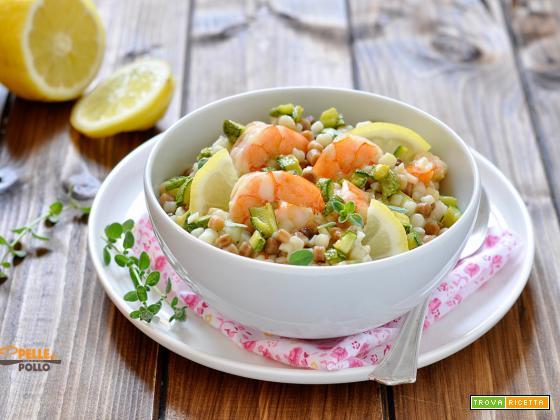 Fregola fredda con gamberi e zucchine