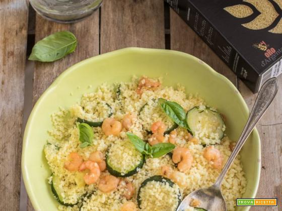 Cous cous gamberi e zucchine – facile e veloce