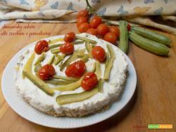 Cheesecake salata alle zucchine e pomodorini